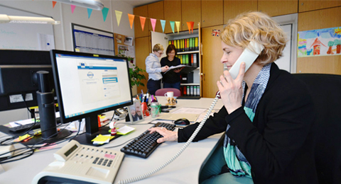 Das EU Office in Aktion (v.l.nr.): Linda Piálek, Katrin Kühn, Anja Uhlenbrok.